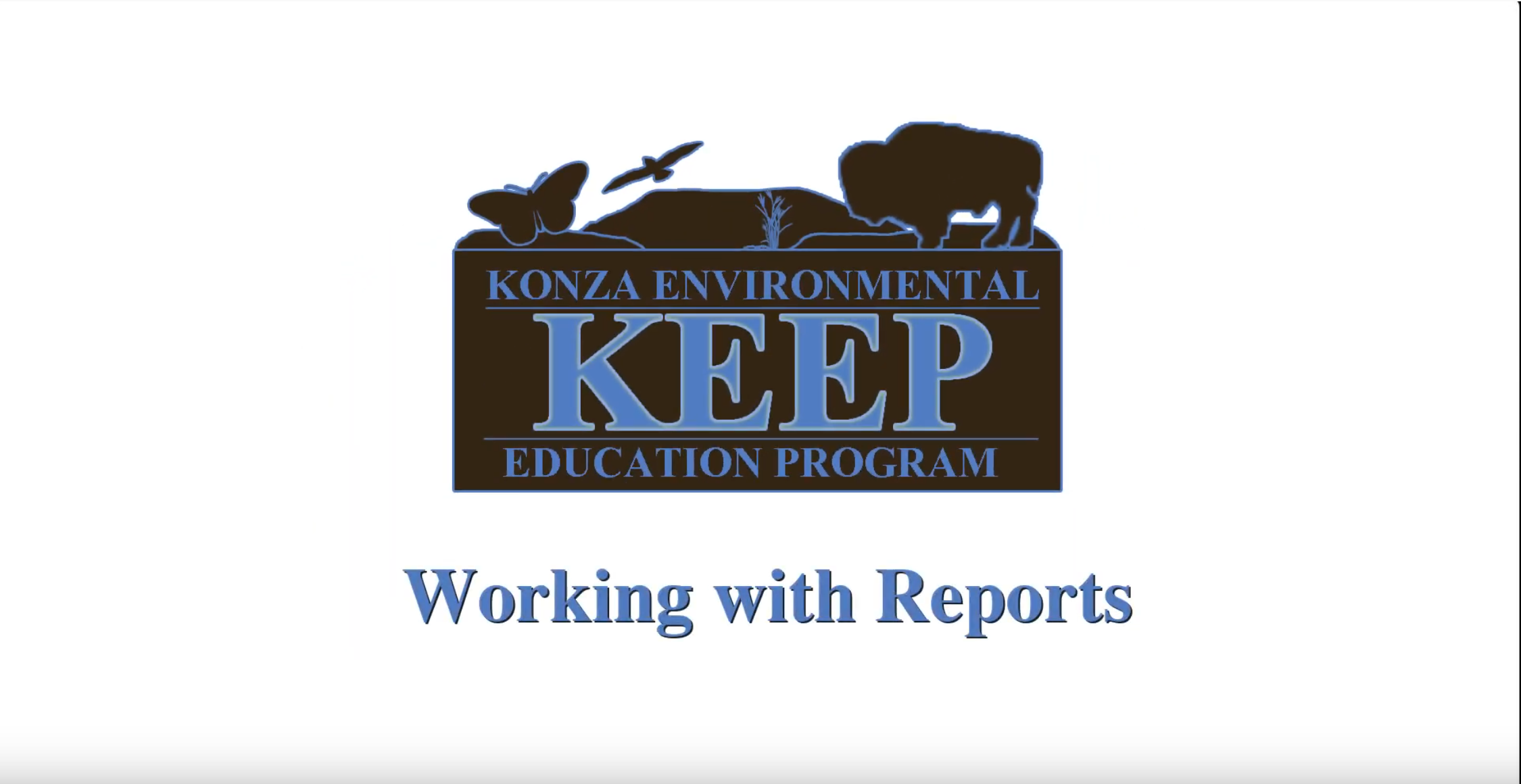 Thumbnail of the Working with Reports Video